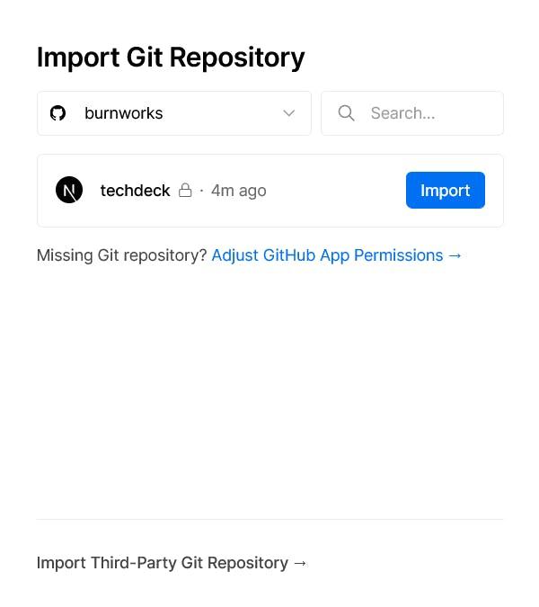 GitHub リポジトリとの連携手順 3 - Vercel